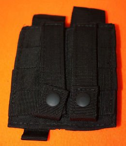 NEW CONDOR DOUBLE TACTICAL PISTOL MAG MAGAZINE POUCH BLACK