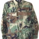 US ARMY WOODLAND CAMO BLOUSE SHIRT WITH PATCH M/R MEDIUM REGULAR