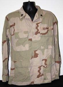 US ARMY DESERT CAMO BLOUSE SHIRT WITH PATCHES M/R MEDIUM REGULAR