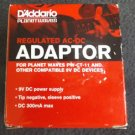 NEW D'ADDARIO PLANETWAVES REGULATED AC-DC ADAPTOR BLACK FREE SHIPPING
