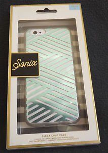 NEW SONIX IPHONE 6 CLEAR COAT CRISS CROSS TEAL ON WHITE CASE