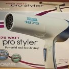 NEW CONAIR PRO STYLER 1875 WATT HAIR DRYER 185NP WHITE/BLUE BLOW DRYER