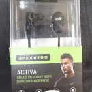 AS-IS AUDIOPURE ACTIVA WIRELESS SPORTS EARBUD W MICRPHONE BLACK