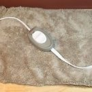 NEW SUNBEAM HEATING PAD MICROPLUSH TAN WITH STRAPS HANDHELD CONTROL 4 HEAT