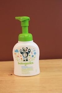 NEW BABYGANICS ALCOHOL-FREE FOAMING HAND SANITIZER, FRAGRANCE FREE, 3-8.45oz EA