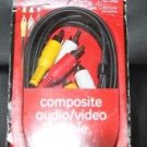NEW COMPOSITE AUDIO VIDEO CABLE TV DVD SATELLITE VCR AV RECIEVER DVR 6 FT 33216