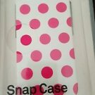 NEW INCASE SNAP CASE PHONE CASE iPHONE 5 WHITE WITH PINK POLKA DOTS