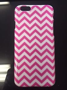 APPLE IPHONE 6 6S PHONE CASE PINK WHITE CHEVRON BACK COVER CUTE GIRLY FUN STYLE