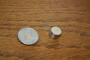 "QTY 5 - 1/2"" X 1/16"" SUPER STRONG N52 DISC NEODYMIUM RARE EARTH MAGNETS ROUND"