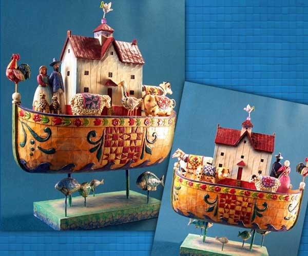 Jim Shore Heartwood Creek Noah's Ark Figurine