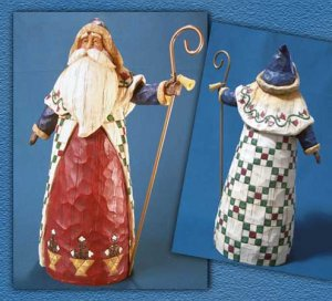 Jim Shore Christmas Santa w/ Cane Heartwood Creek Figurine