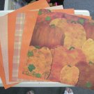 Mixed Lot of Fall Colors 12X12 scrapbook paper
