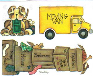 Provo Craft Stickers We're Moving