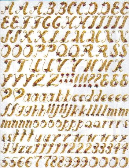Colorbok Lace Alphabet