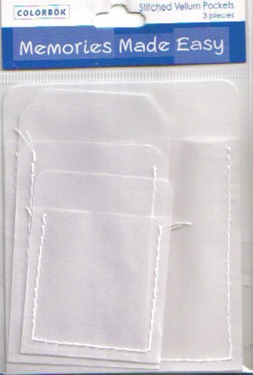 Colorbok Stitched Vellum Pockets