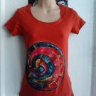 Abstract painted Tshirt size 8