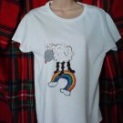 Sheep painted T-shirt size 10