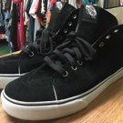Men's Sz 12 Black High Top Vans Off The Wall Shoes