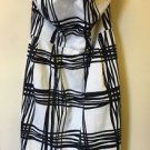 Women's Size 12 Express White Black Plaid Tube Dress