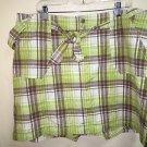 Women's Size 20 Lane Bryant Green Brown White Plaid Skort