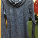 Women's Columbia Long Sleeve Blue Hooded Shirt. Size Extra Small