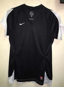Women's Medium Nike Dry Fit Black White Short Sleeve Team Shirt