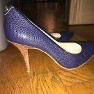 Women's Size 5.5 Michael Kors Blue Heels Pumps