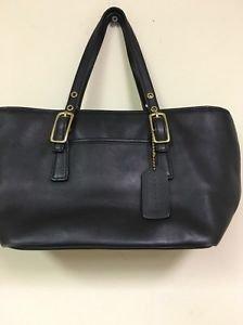 Vintage Coach Black Leather Legacy Mini Shopper Tote Handbag #9846