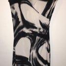 Women's Xs Black White V Neck Short Sleeve Bebe Dress