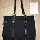 Coach F12344 Black Jacquard Signature Gallery Tote Shoulder Bag Purse NWT $328