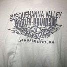 Men's 3Xl White Harley Davidson Harrisburg Pennsylvania T-Shirt