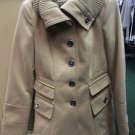 Jessica Simpson Women's Small Tan Pea Coat Dress Jacket
