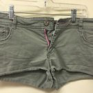 American Eagle Jean Shorts Size 12 Stretch Army Green Bling