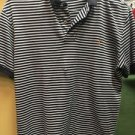 Men's Polo Ralph Lauren White And Blue Striped Short Sleeve Shirt Size Small
