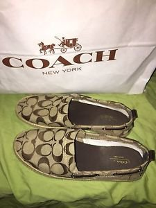 Coach Mellow Flats Signature Espadrilles in Brown Size 6 Slip Ons