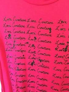 women's Medium Pink Juicy Couture Hi Lo T Shirt