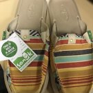 SANUK GETAWAY 2 DYSTY YELLOW SIDEWALK SURFER SLIDE SHOES,  Womens Size 7 NWT $55
