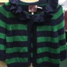 Women's Juicy Couture Green And Blue Cover Up Sweater. Size Petite