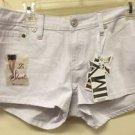NWT Ladies Size 9 YMI Stretchy White Jeans Shorts