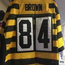 Men's Size 56 Nike Pittsburgh Steelers Antonio Brown Bumble Bee Jersey