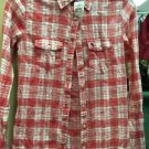 NWT Women's Abercrombie And Fitch Long Sleeve Button Up Plaid Shirt. Size XS