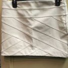 Women's Express Off White Cream Pleather Skirt. Size 4