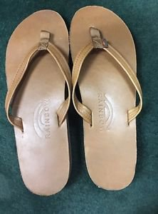 new Rainbow Leather 302 ALTS N Women's L 7.5-8.5 Thin Strap Sandals
