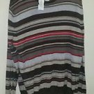 NWT men's banana republic brown tan and red striped long sleeve shirt size XL
