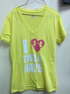 Women's Under Armour Small HeatGear Yellow Short Sleeve T Shirt