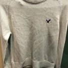 Men's American Eagle Tan Beige Pull Over Long Sleeve Sweater Size Small