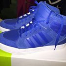 Men's Sz 10.5 Neo Adidas Raleigh Mid Blue Hard court Sneakers F99089