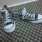 Unisex converse mens size 5 womans size 7 black and white Zebra Chucks sneakers