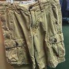 Men's American Eagle Classic Length Size 28 Khaki Cargo Shorts