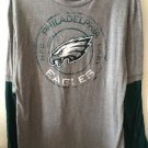 Women's Large Philadelphia Eagles Football Long Sleeve Shirt Grey Green